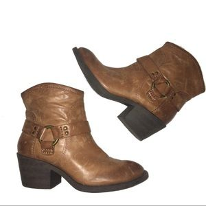 Lucky Brand Brown Leather Bambi Booties